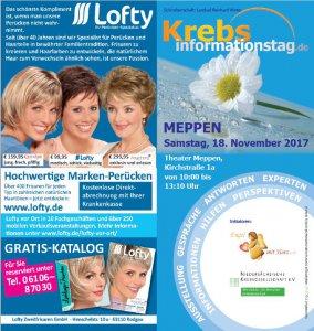 Ausschnitt Flyer Krebsinformationstag in Meppen am 18. November 2017