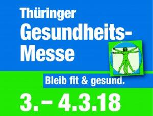 Logo der Thüringer GesundheitsMesse März 2018 in Erfurt
