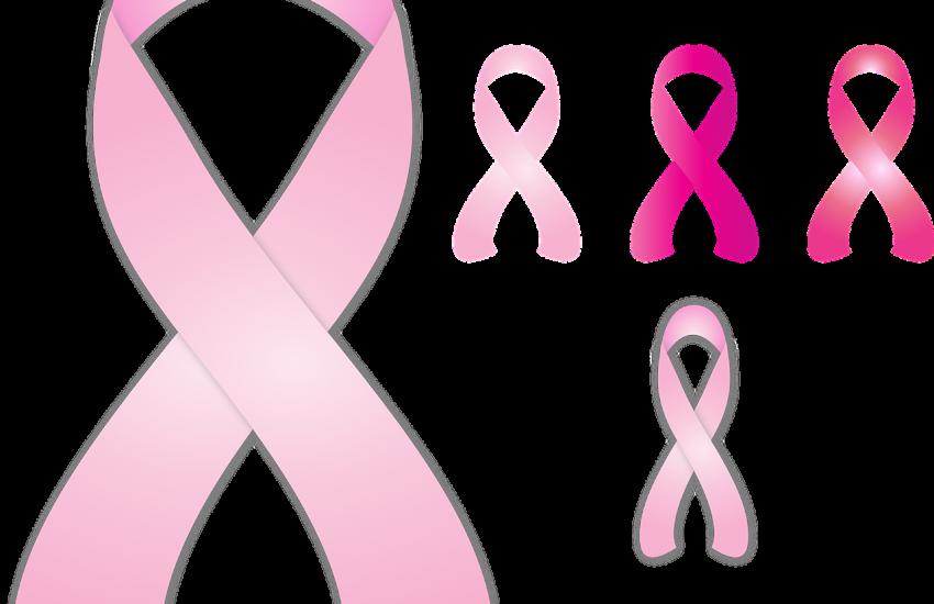 Pink- und rosafarbige Schleifen sind das Wahrzeichen des Brustkrebsmonat Oktober